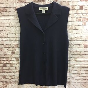 APPLESEED'S Acrylic Knit Blue Tank Top Shirt Vest